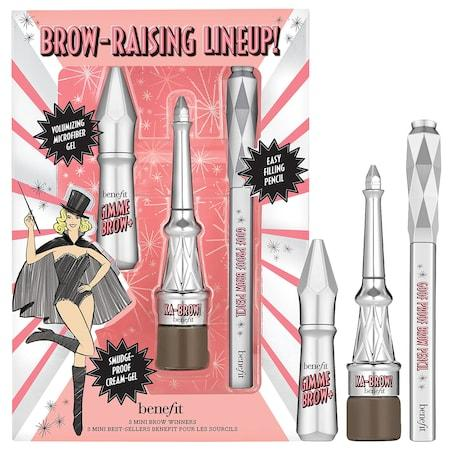 Benefit Cosmetics Brow Raising Lineup! Mini Brow Trio Set Shade 3.5