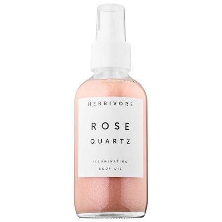 Herbivore Rose Quartz Illuminating Body Oil 4 Oz/ 120 Ml