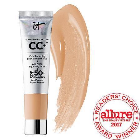 It Cosmetics Your Skin But Better(tm) Cc+(tm) Cream With Spf 50+ Medium 0.4 Oz/ 12 Ml