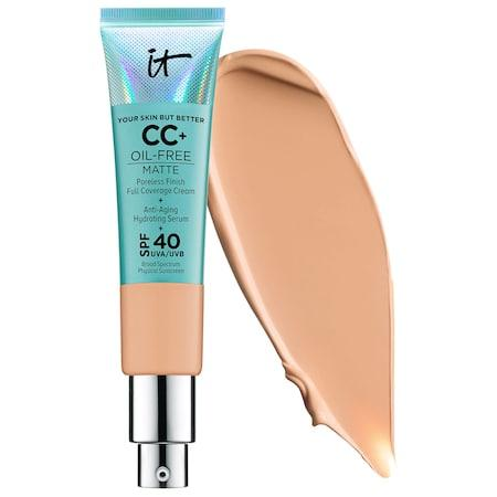 It Cosmetics Your Skin But Better Cc+ Cream Oil-free Matte With Spf 40 Medium Tan 1.08 Oz/ 32 Ml