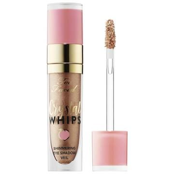 Too Faced Peaches & Cream Crystal Whips Long-wearing Shimmering Eye Shadow Veil Pop The Bubbly! 0.165 Oz/ 4.90 Ml