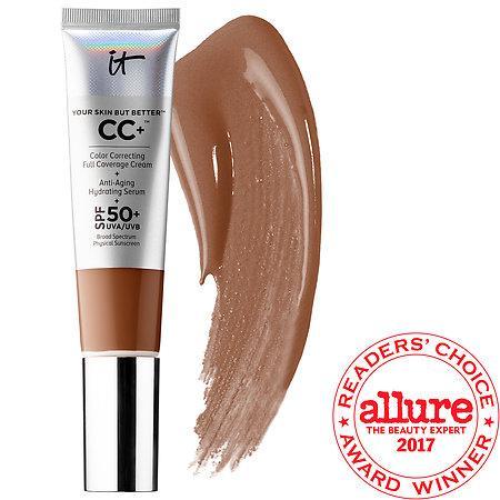 It Cosmetics Your Skin But Better(tm) Cc+(tm) Cream With Spf 50+ Deep 1.08 Oz/ 32 Ml