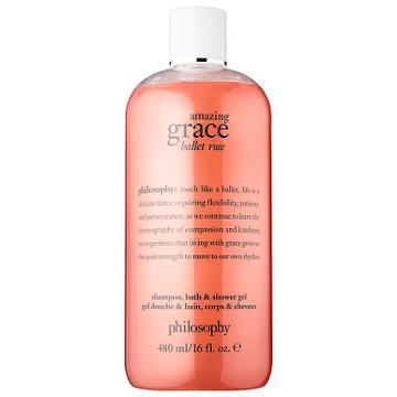 Philosophy Amazing Grace Ballet Rose Shampoo, Bath, & Shower Gel 16 Oz/ 480 Ml