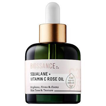 Biossance Squalane + Vitamin C Rose Oil 1 Oz/ 30 Ml
