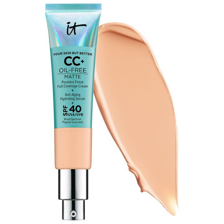 It Cosmetics Cc+ Cream Oil-free Matte With Spf 40 Neutral Medium 1.08 Oz/ 32 Ml