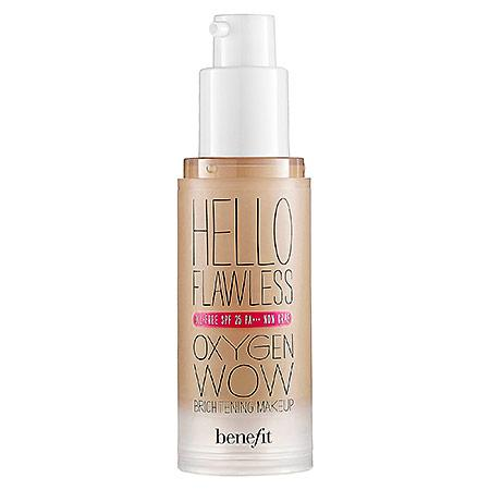 Benefit Cosmetics 'hello Flawless!' Oxygen Wow Liquid Foundation 'warm Me Up' Toasted Beige 1 Oz