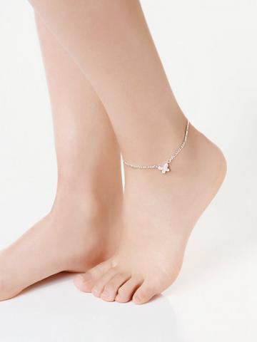 Shein Rhinestone Butterfly Design Link Anklet