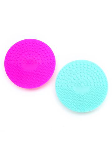 Shein 2pcs Makeup Brush Cleaner Plate