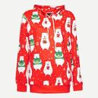 Shein Men Christmas Bear Print Hooded Sweatshirt