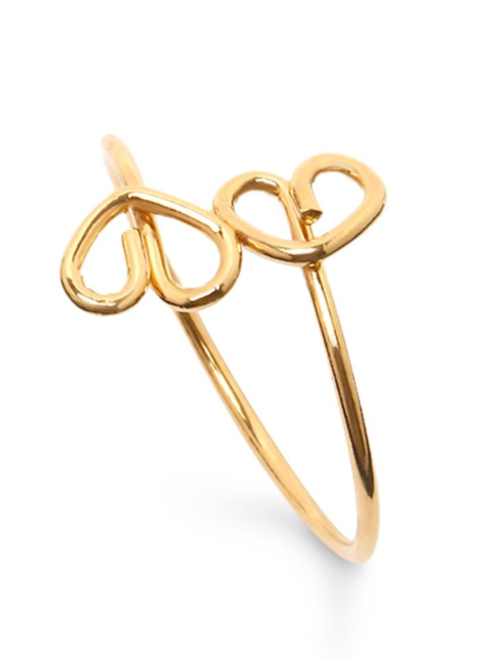 Shein Golden Heart Shaped Ring