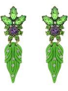 Shein Green Diamond Leaves Earrings