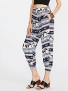 Shein Aztec Print Harem Pants