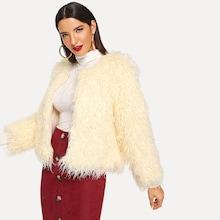 Shein Faux Fur Outerwear