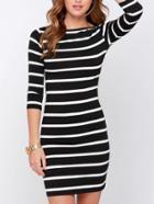 Shein Striped Boydcon Dress