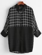 Shein Contrast Gingham Shirt