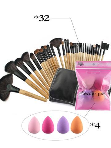 Shein 32pcs Makeup Brush And Puff Set