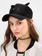 Shein Embroidery Detail Baseball Hat