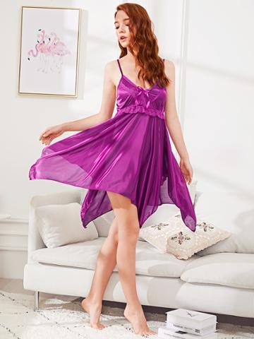 Shein Lace Trim Cami Dress