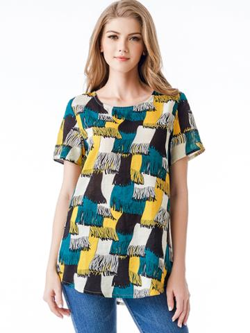 Shein Abstract Print Top