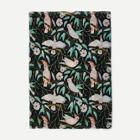 Shein Bird & Leaf Print Scarf