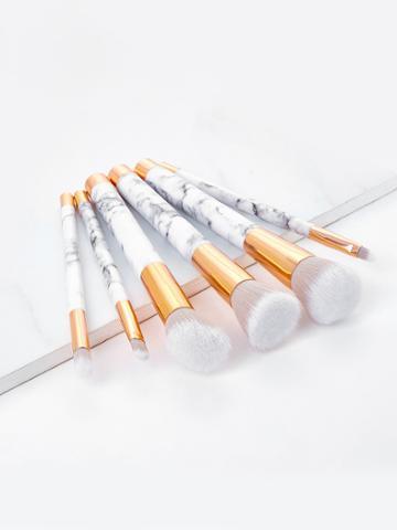 Shein Marble Pattern Handle Brush Set 6pcs