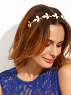 Shein Golden Leaf Shaped Hair Band