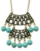 Shein Turquoise Long Pendant Necklace