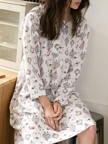 Shein Allover Bear Print Dress