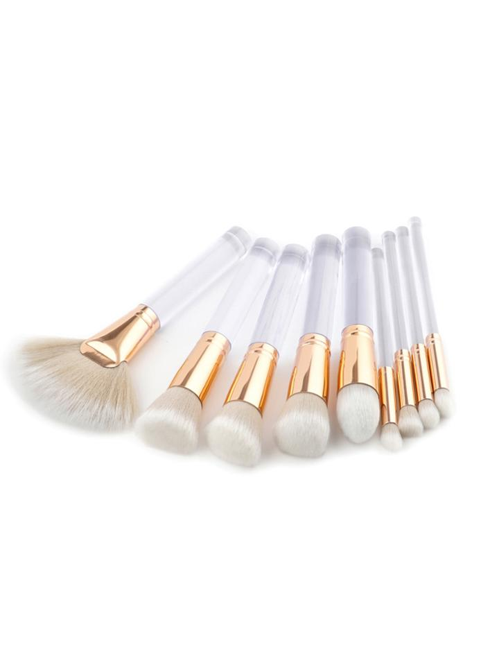 Shein Clear Handle Makeup Brush 9pcs