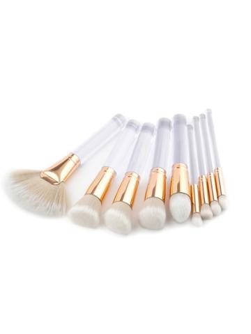 Shein Clear Handle Makeup Brush 9pcs