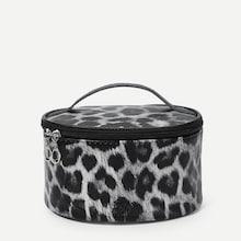Shein Leopard Zipper Around Makeup Bag
