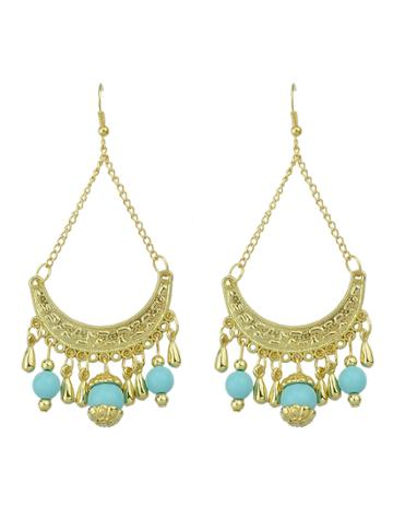 Shein Hollow Out Blue Ladies Earrings