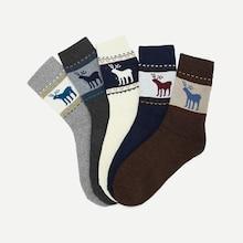 Shein Christmas Men Elk Pattern Socks 5pairs