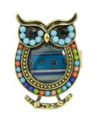 Shein Blue Beads Adjustable Owl Rings