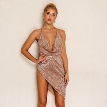 Shein Draped Front Asymmetrical Hem Halter Dress