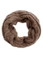 Shein Khaki Cable Knit Scarf