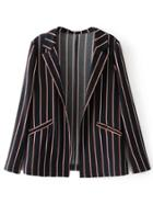 Shein Tailored Striped Print Blazer