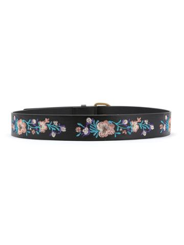 Shein Flower Embroidery D Ring Belt