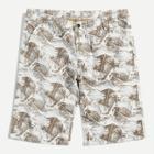 Shein Men Leaf Print Skinny Denim Shorts