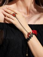 Shein Vintage Flower Lace Rhinestone Hand Chain