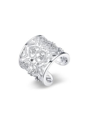 Shein Rhinestone Heart Design Adjustable Ring
