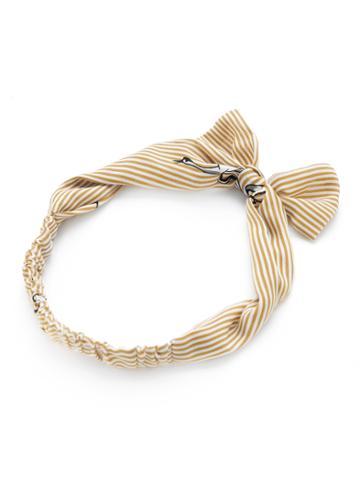 Shein Pinstripe Bow Tie Headband