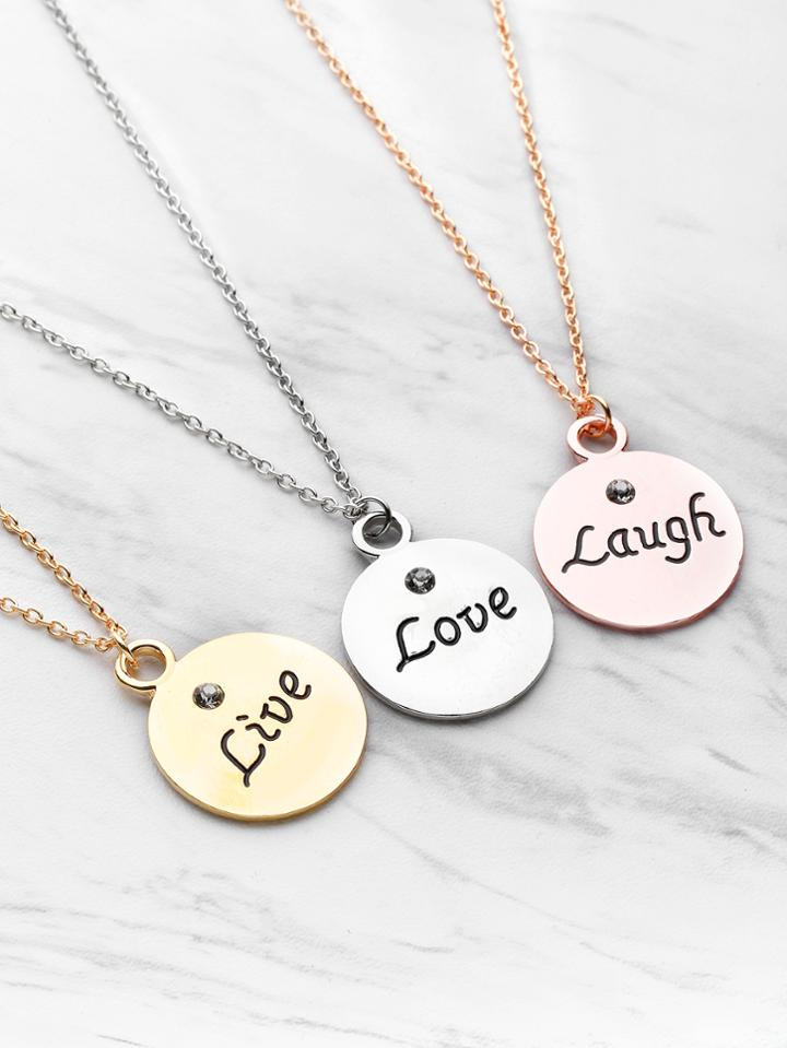Shein Round Pendant Friendship Necklace 3pcs