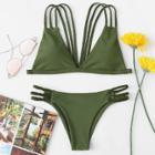 Shein Braided Straps Bikini Set