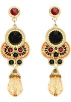 Shein Orange Gemstone Gold Vintage Earrings