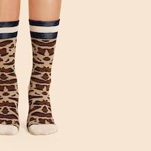 Shein Leopard Pattern Socks 1pair