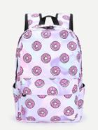 Shein Donuts Print Pu Backpack