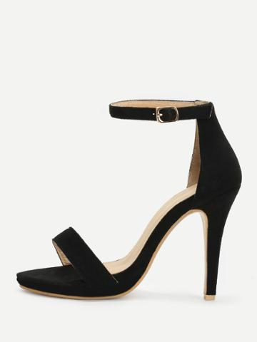 Shein Two Part Ankle Strap Heeled Sandals