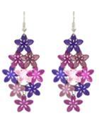 Shein Purple Flower Shape Earrings