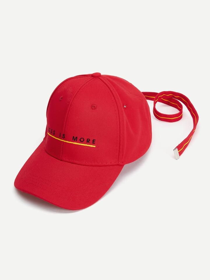 Shein Slogan Embroidered Baseball Cap